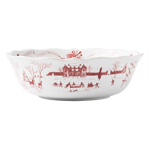 "$135.00 Winter Frolic 10"" Serving Bowl"