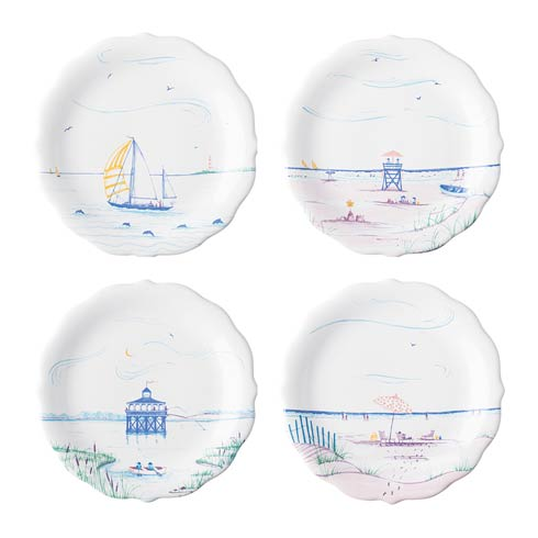 $125.00 Party Plates, Assorted Set of 4