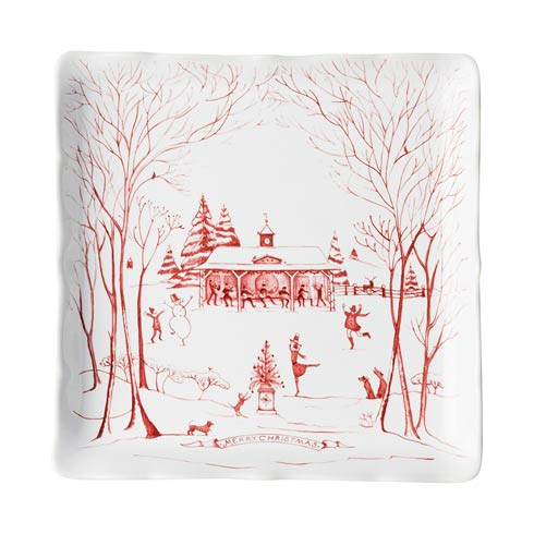 Juliska Country Estate Ruby Winter Frolic Sweets Tray $68.00