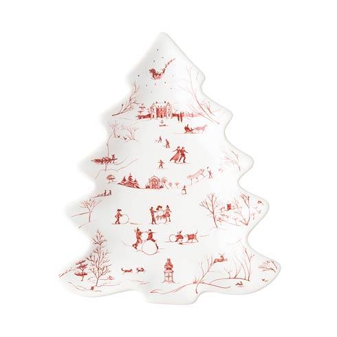 Juliska  Country Estate Winter Frolic Ruby Small Tree Tray $58.00