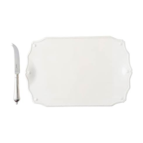 "Juliska Berry & Thread Whitewash 15"" Serving Board w/Knife $125.00"