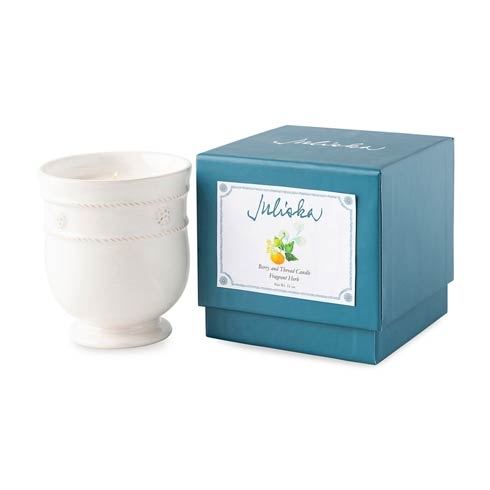 Juliska  Candlelight Whitewash Candle - Fragrant Herb $68.00