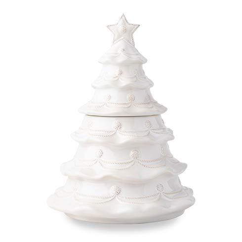 $125.00 Whitewash Christmas Tree Cookie Jar