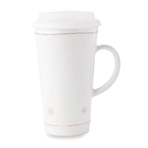 Juliska Berry & Thread Whitewash Travel Mug (with Silicone lid) $35.00
