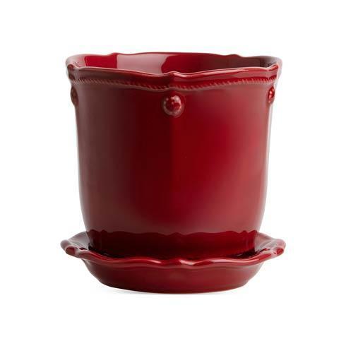 "$48.00 Berry & Thread Ruby 5.25"" Planter & Saucer"