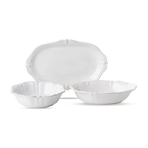 """$235.00 Whitewash Serving Bundle (10"""" Serving Bowl, 12"""" Oval Serving Bowl, 16"""" Platter)"""