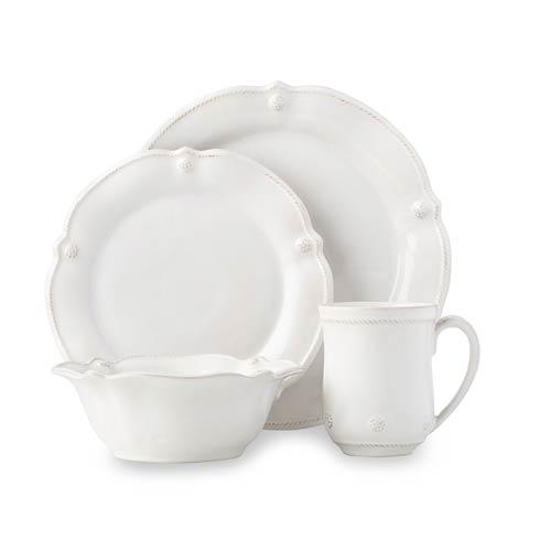 Juliska Berry & Thread Flared Whitewash 4pc Place Setting (Dinner, Salad, Cereal/Ice Cream Bowl, Mug) $146.00