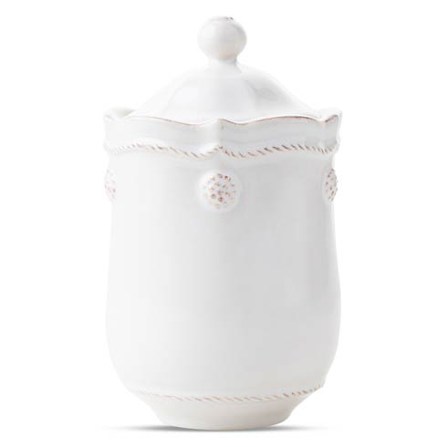 $38.00 Whitewash Lidded Jar