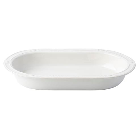 "Juliska French Panel Whitewash French Panel 17"" Oval Baker $95.00"