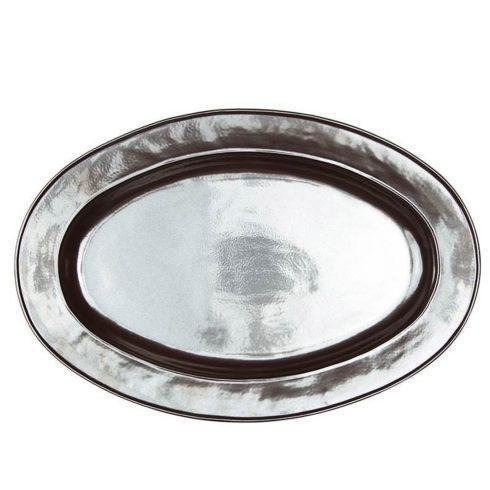 "Juliska  Pewter Stoneware 21"" Oval Platter $175.00"