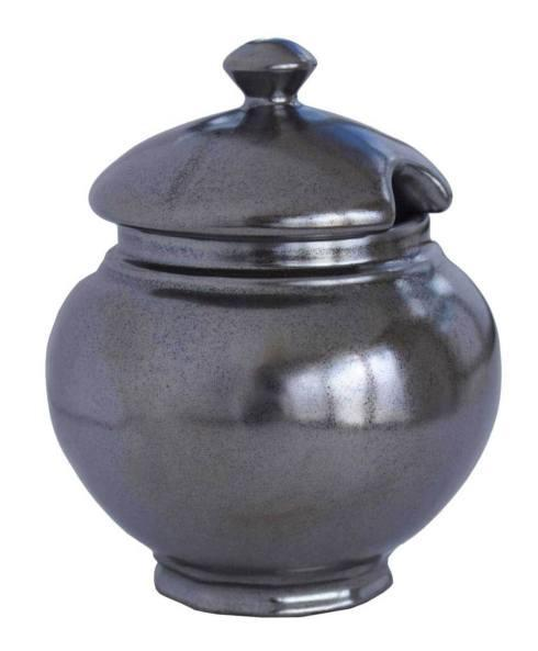 Juliska  Pewter Stoneware Lidded Sugar Bowl $42.00