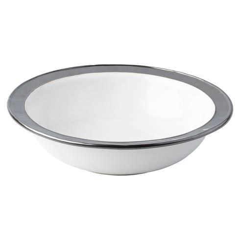 """White/Pewter 13"""" Serving Bowl"""