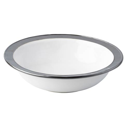 "$250.00 White/Pewter 13"" Serving Bowl"