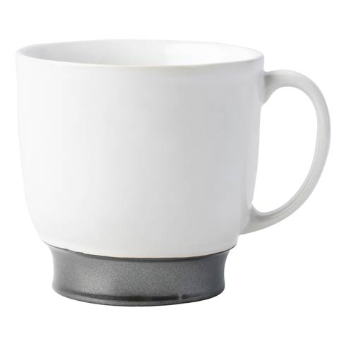 $42.00 White/Pewter Cofftea Cup
