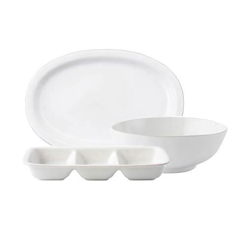 "$238.00 3pc Essential Serving Set (16"" Platter, 10"" Serving Bowl, Triple Section Server)"