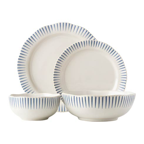 $144.00 4Piece Place Setting Indigo (KW01-02-07-08X)