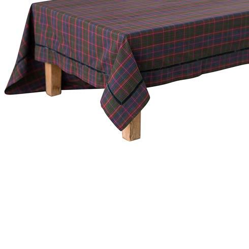 "$125.00 Chalet Tartan 70""x96"" Table Cloth"