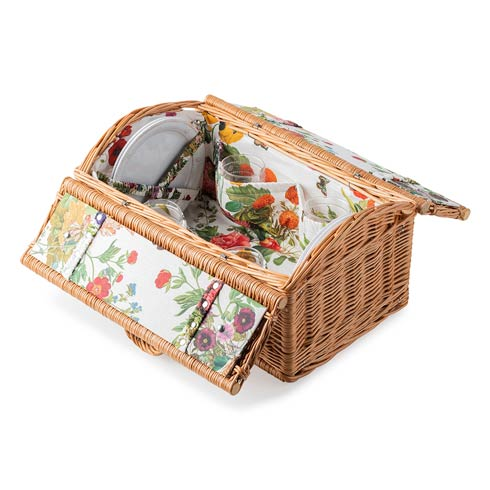 $495.00 Field of Flowers Picnic Basket - w/ B&T