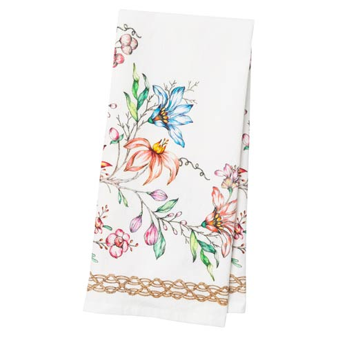 Juliska  Linens Tea Towel Floretta $20.00