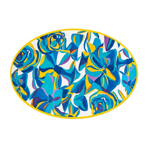 $48.00 Blue Rose Serving Platter