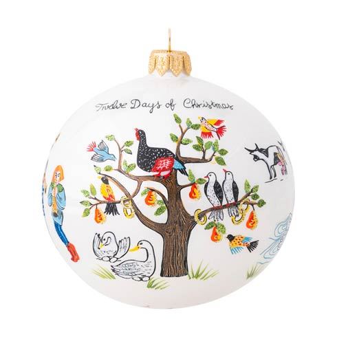 $98.00 Twelve Days of Christmas Glass Ornament - 2020 Limited Edition