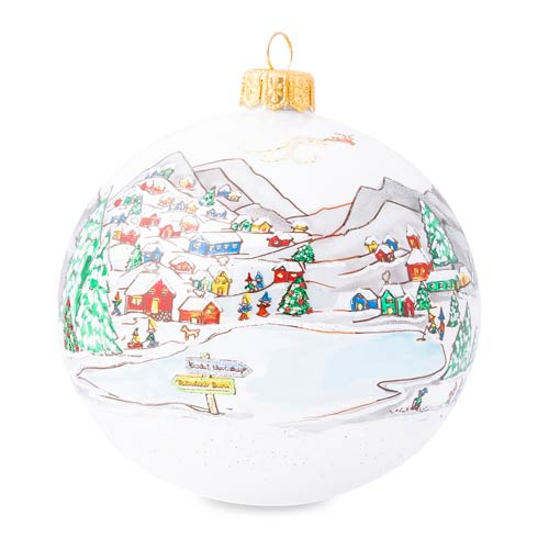 Juliska  Ornaments Berry &Thread North Pole Glass Ornament - 2020 Limited Edition $98.00
