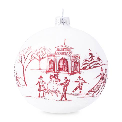 $98.00 Country Estate Winter Frolic Ruby Glass Ornament - 2020 Limited Edition