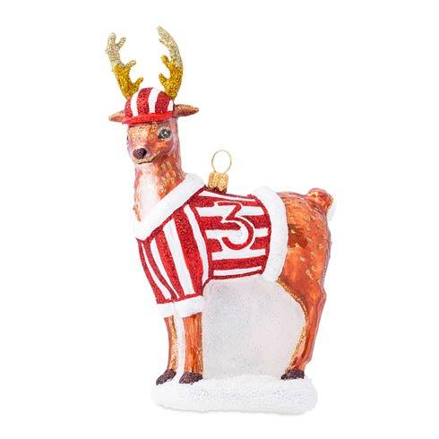 $88.00 Country Estate Reindeer Games Donner the Reindeer Glass Ornament
