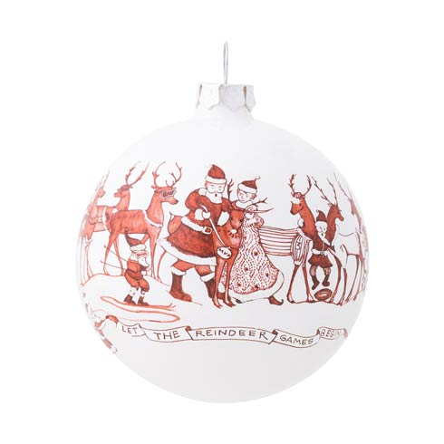 $42.00 Country Estate Reindeer Games Ball Glass Ornament