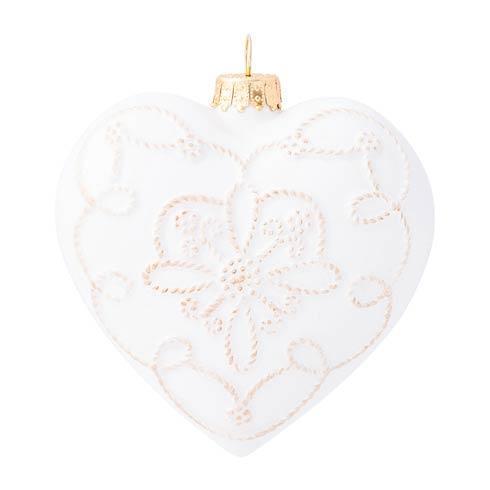 $39.00 Berry & Thread Ceramic Heart Ornament