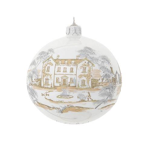 $98.00 Country Estate Gold & Silver 2021 Limited Edition Glass Ball Ornament