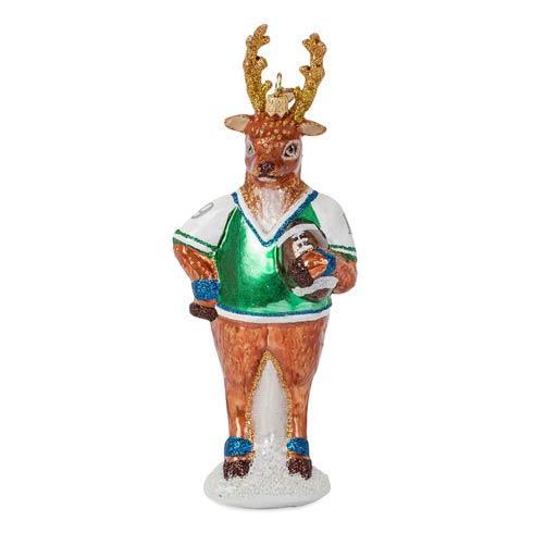 $88.00 Country Estate Reindeer Games Blitzen the Reindeer Glass Ornament