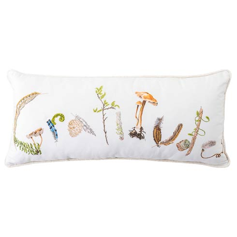"Forest Walk Gratitude 12"" x 27"" Pillow"