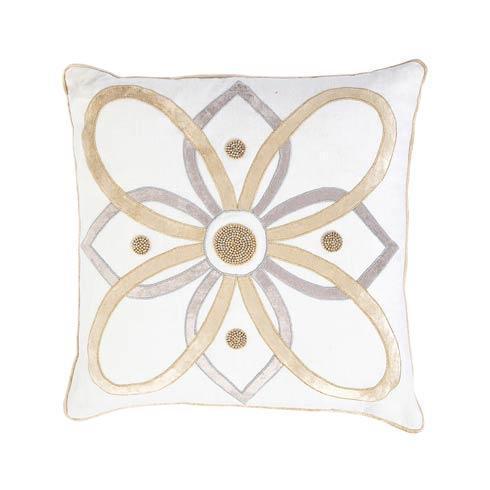 "$165.00 Berry & Thread Gold & Silver 18"" Pillow"