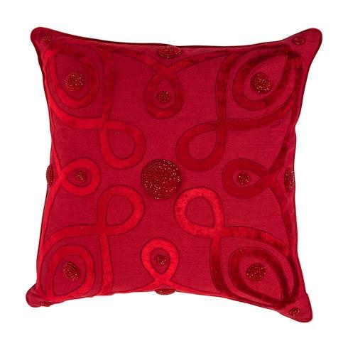 """$195.00 Berry & Thread Ruby 22"""" Pillow"""