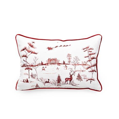 $158.00 Country Estate Winter Frolic Ruby 12 x 18 Pillow