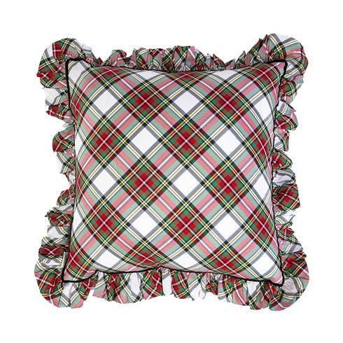 """$195.00 Stewart Tartan 18"""" Ruffle Pillow"""