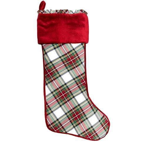 $75.00 Stewart Tartan Stocking