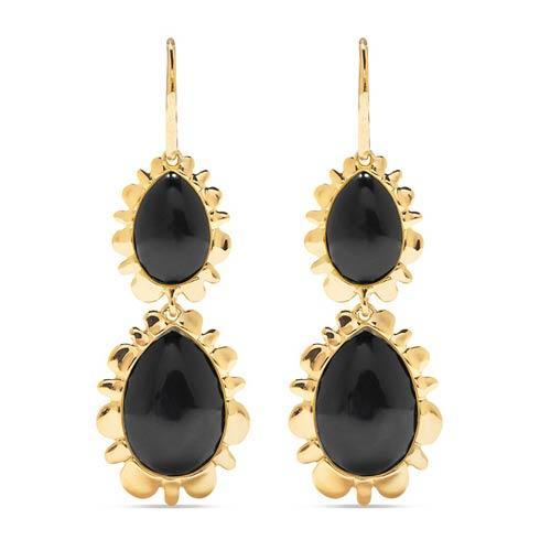 $395.00 Double Bliss Drop Earrings, Onyx