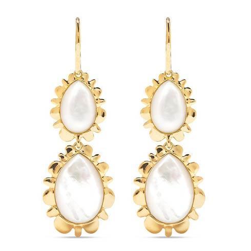 $395.00 Double Bliss Drop Earrings, Mother of Pearl