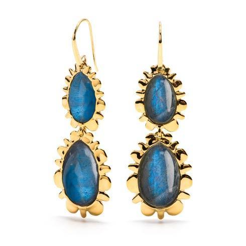 $395.00 Double Bliss Drop Earrings, Midnight Blue
