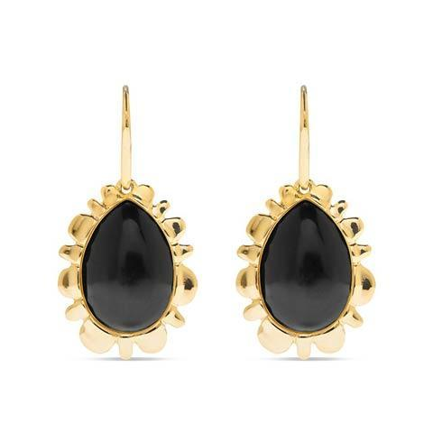 $275.00 Bliss Drop Earrings, Onyx