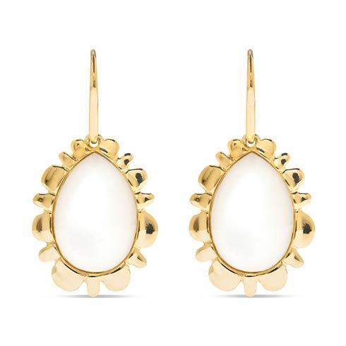 $275.00 Bliss Drop Earrings, Mother of Pearl
