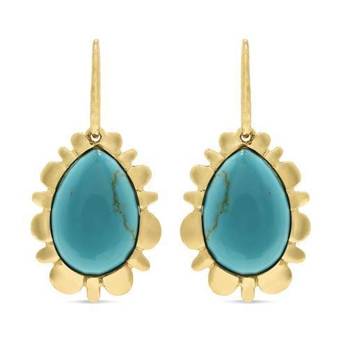 $275.00 Bliss Drop Earrings, Turquoise