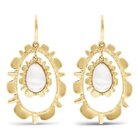 $350.00 Drop Earrings, Floating Clear Quartz