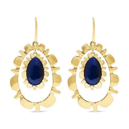 $350.00 Drop Earrings, Floating Midnight Blue