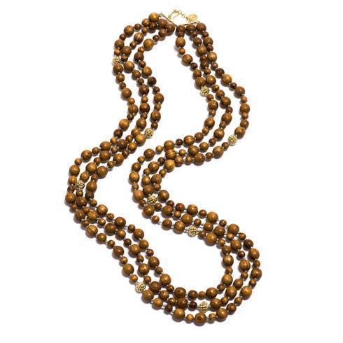 $495.00 Beads Necklace, Teak