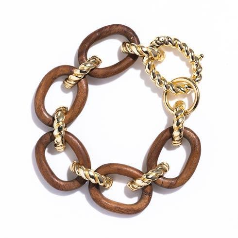 $195.00 Link Bracelet, Teak