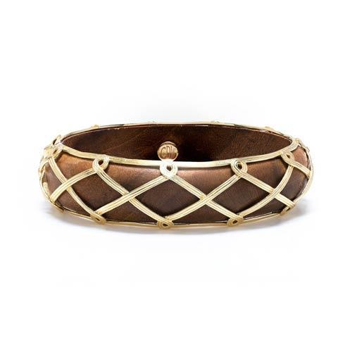 $295.00 Hinged Bangle, Teak