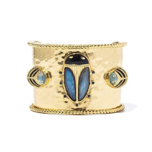 $350.00 Cuff, Black Agate & Blue Labradorite